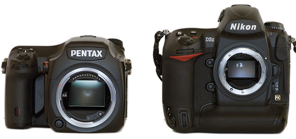 Pentax 645D body and Nikon D3x body
