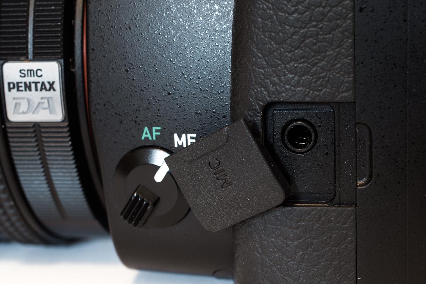 The external mic port
