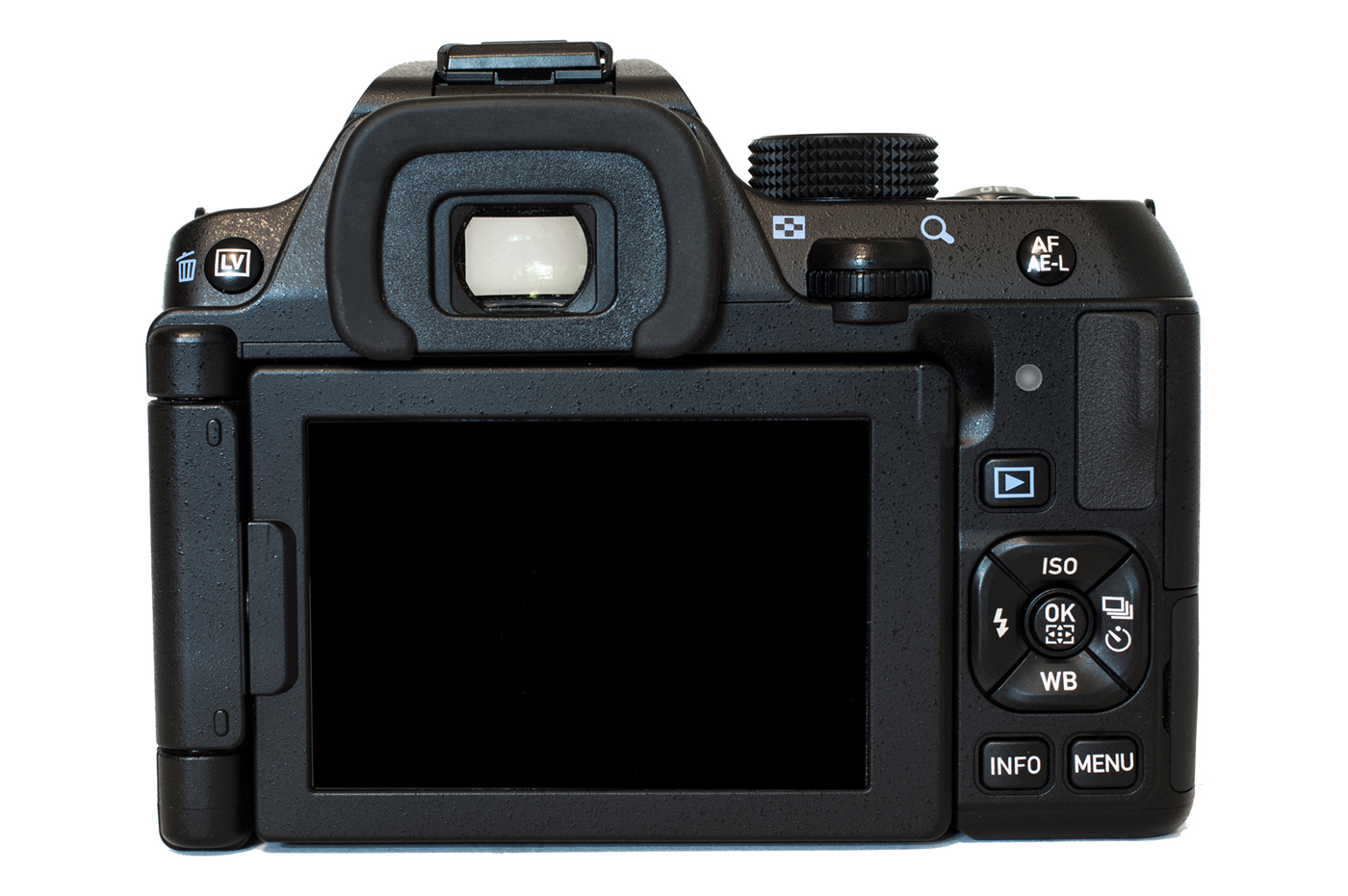 The rear of the Pentax K-70