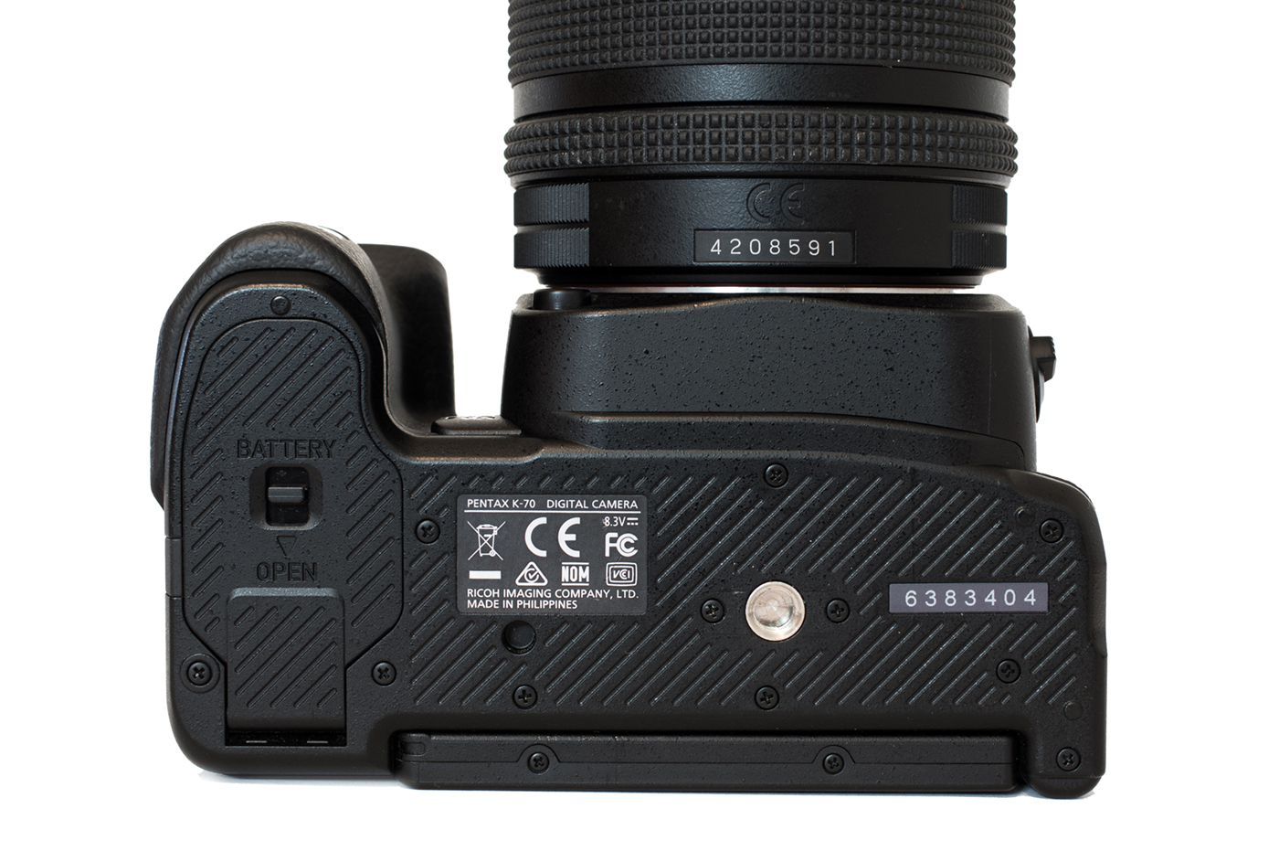 The bottom of the Pentax K-70