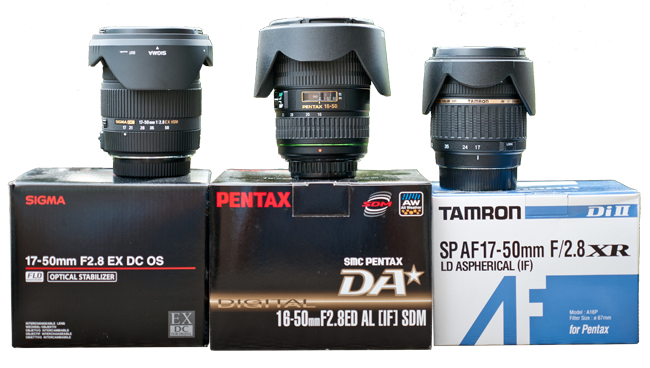 Pentax 16-50mm vs Sigma and Tamron 17-50mm Review
